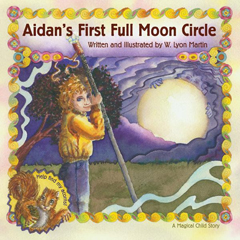 AIDAN'S FIRST FULL MOON CIRCLE HB*