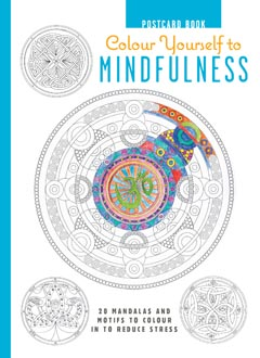 COLOUR YOURSELF TO MINDFULNESS POSTCARD BOOK HB